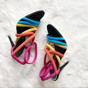Colorful Zara Heels sz 6 ✨